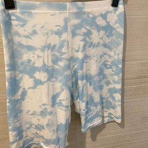 2 NASTY GAL BIKER SHORTS IN SKY BLUE AND PINK $15